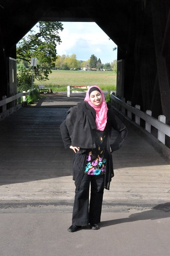 143 - Heba at the Covered Bridge by carolfoasia