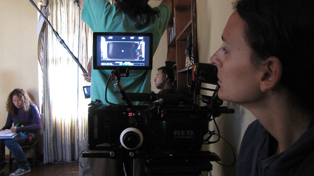 Joanna Lombardi, rodaje de Casa dentro