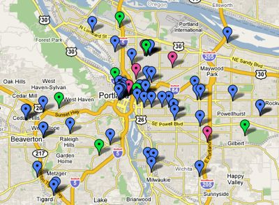 Portland Crafty Map by Diane Gilleland