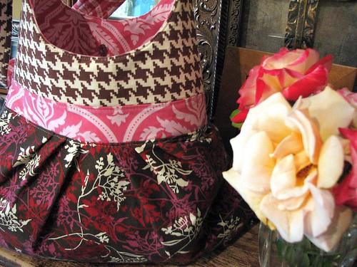 new bag + roses