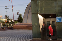 021_11-oct. (susan catherine) Tags: losangeles elevator explore apad weekone metrostation ladyinred aphotoaday elgranburrito colorphotoaward midnighttacos almostadiptych