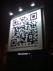 QR code on billboard
