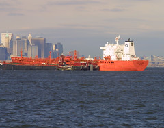 BOW PANTHER in New York, USA. Feb. 2005 (Tom Turner - SeaTeamImages / AirTeamImages) Tags: nyc red newyork port bay harbor marine ship harbour transport pony maritime bow transportation panther bigapple tanker chemical tomturner odfjell seachem odfjellseachem bowpanther 8316728