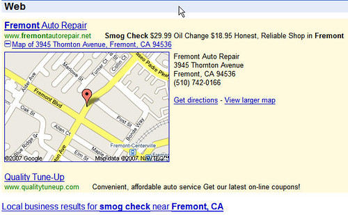 Google AdWords Local Plus Box