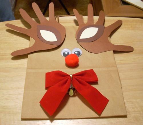 Reindeer Gift Bag 6 EnigmaArtist.com