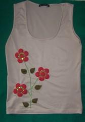 Primavera (danynunes2002) Tags: moda bordados camisetas customizao apliques camisetascustomizadas
