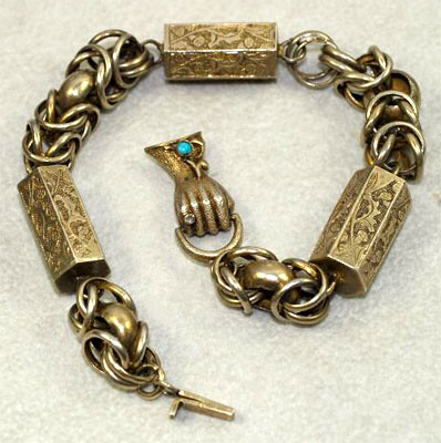 Wonderful Early Victorian Hand Motif Bracelet