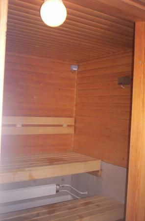 Una sauna finlandesa desde fuera