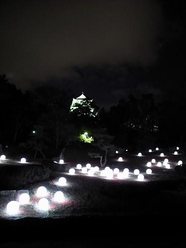 夜の福山城