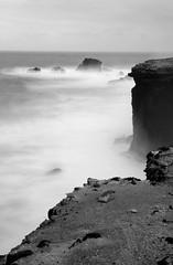 edge of the cliffs (maccanti) Tags: white black blanco waves y negro cliffs polarizer olas blanc negre rocas silky density neutral riscos bwdreams