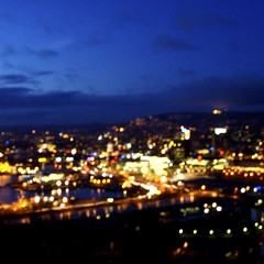 Oslo, photographed through my brand new invention (mrjorgen) Tags: sky blur oslo clouds evening himmel outoffocus skyer osloplaza operaen bjrvika alcoholsimulator alcoholsimulation intoxicationemulator