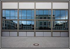 Reflections on physics (xollob58) Tags: building window reflections germany deutschland raw hessen fenster wideangle gebude darmstadt hesse weitwinkel spiegelungen technischeuniversitt technicaluniversity sigma1020mmf456exdchsm institutfrphysik instituteforphysics