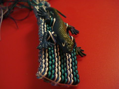 (pushpin_marmalade) Tags: handmade crafts gimp plastic boondoggle lacing scoubidou plasticlacing