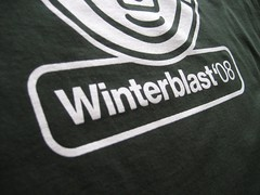 Winterblast 2008 T-Shirt Design: Type Detail
