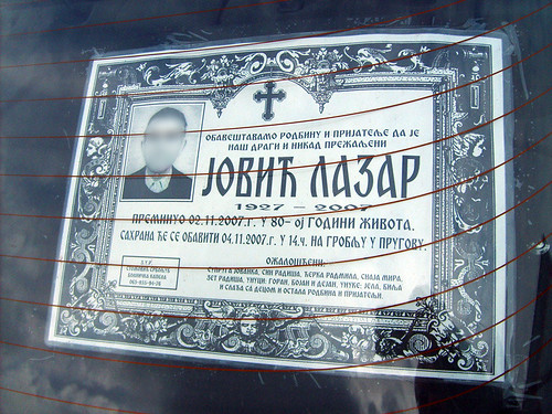 Russian death notice