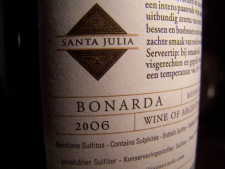 Santa Julia Bonarda 2006