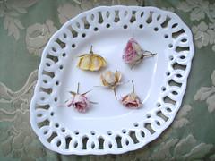 rosas cristalizadas