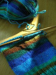 sock  (by aswim in knits)