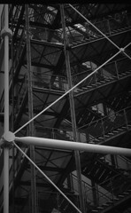 Beaubourg stairs (Tentation) Tags: bw film 35mm nikon nb 135 fm2 ilfordpanf 24x36 id1111