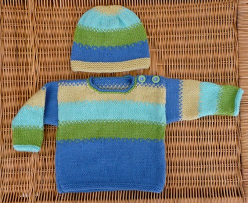 Baby sweater & beanie set