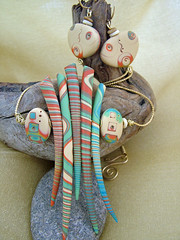 Picasso Meets Medusa (julie_picarello) Tags: house yellow beads julie jewelry designs polymer gane mokume picarello