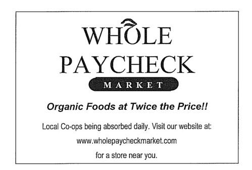 Whole Paycheck by Andrea Davis