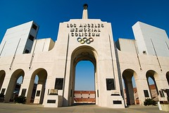 Los Angeles Memorial Coliseum (Eric Wolfe) Tags: california usa architecture losangeles unitedstates stadium coliseum marble olympics original:filename=200710240008jpg