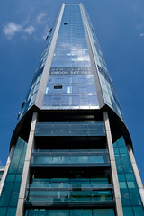 Beetham Tower (michael.draycott) Tags: blue sky reflection tower skyscraper liverpool perspective tall 08 beetham capitalofculture blueribbonwinner