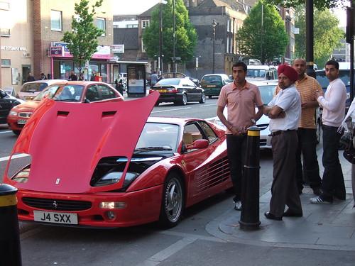 Broken down Ferrari