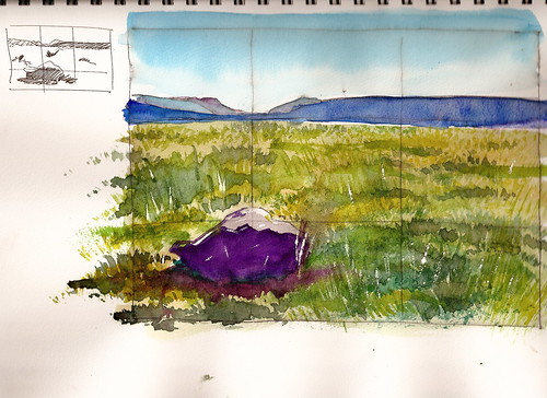 Watercolor Sketch - Yellowstone Meadow