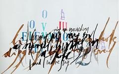 Elevation [caligrafa gestual] (paula_erre_dos) Tags: art argentina ink watercolor graphicdesign acuarela diseogrfico callygraphy caligrafa tintachina paularodrguez vanriel paulaerre callygraphyart galeravanriel