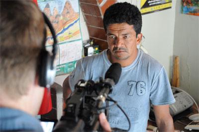 In Production - Polivio Perez in Apuela