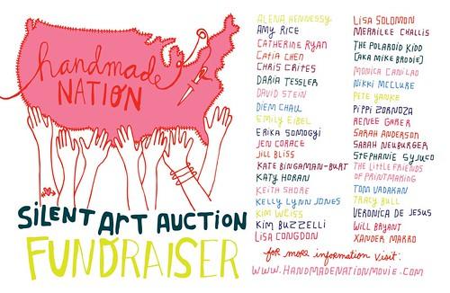 Handmade Nation silent art auction fundraiser in LA