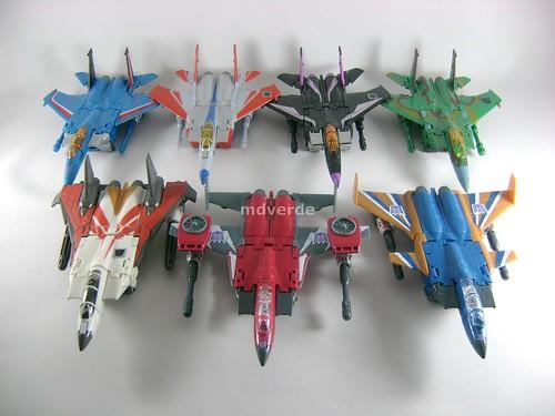 Transformers Thrust Classic Henkei vs Classics Seeker Jets - modo alterno
