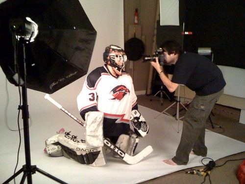Behind the Scenes: Hockey Player