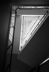 Juanjo Estelles stairs 7 (Ximo Michavila) Tags: abstract black architecture stairs blackwhite triangle perspective stairwell repetition railing architecturephotography juanjoestelles ximomichavila