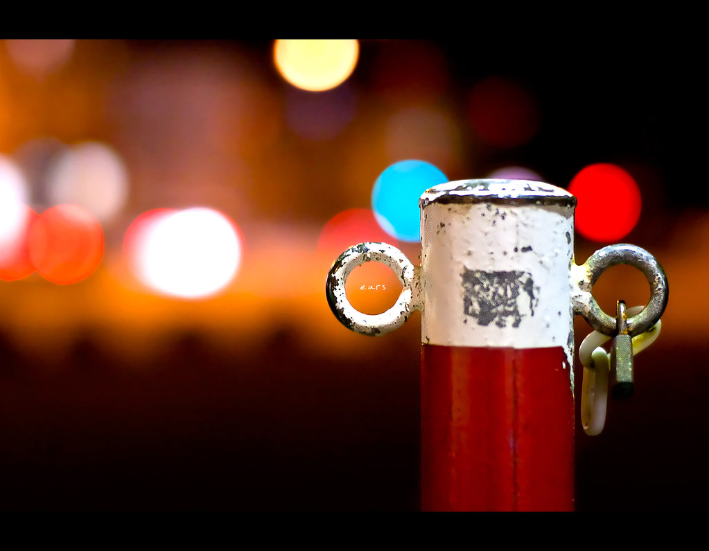 Project 365, 272/365, Day 272, bokeh, self portrait, Sigma 50mm F1.4 EX DG HSM, 50mm, colours, nightshot, ears, lock,