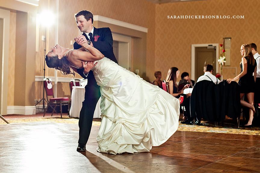 Marriott Country Club Plaza wedding reception photographer