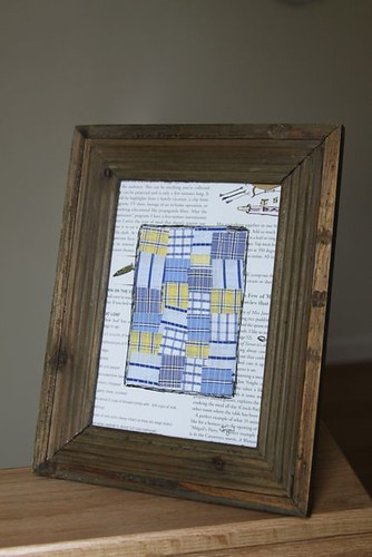 Reclaimed Barn Wood Frame & Recycled Shirt Quilt