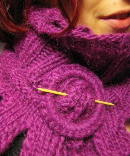 Mohair scarf/capelet detail