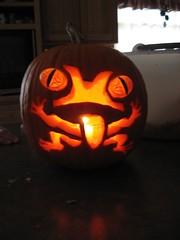Abby's frog-o-lantern
