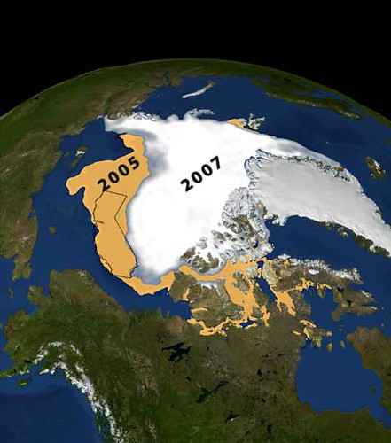 Comparison of Minimum Sea Ice Between 2005 and 2007