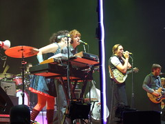 The Arcade Fire on stage in Manchester, October 2007