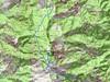 Carte de la Castagniccia avec le massif du San Petrone et son parcours en traversée