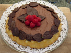 Frangipan or Almond Cake 1 (edgarandron) Tags: food cake chocolate almond frangipan
