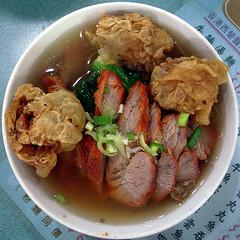 chasiew & deep fried wonton noodle soup (superlocal) Tags: china hk food hongkong soup tasty photoblog v squaredcircle wonton noodle 香港 photolog ricohgrdigital grd superlocal r0052029jpg hongkongset superlocalhk