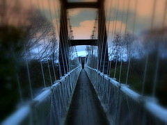 Morning Mood! (sirwiseowl) Tags: bridge mood creepy spooky swingbridge masterton queenelizabethpark wairarapa