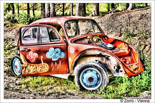 Old Hippie VW. Gesehen im Waldviertel - Blockheide