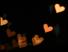 Fairies Are Invisible And Inaudible Like Angels (QTRZ . d e l i r i u m ,,) Tags: orange black blur cute nature yellow sparkles photoshop hearts blurry heart bokeh invisible magic brush explore fairy angels fairies faerie delirum qtr inaudible qtrz