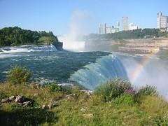 The American Falls (JennaMagnuski) Tags: canada niagarafalls rainbow americanfalls